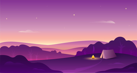 Landscape vector illustartion