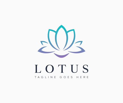 Lotus Flower Logo Icon Vector Illustration Template