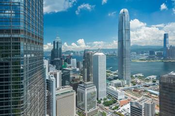 Photo sur Aluminium Hong-Kong modern skyscraper and office building in Hong Kong city