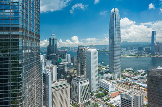 modern skyscraper and office building in Hong Kong city