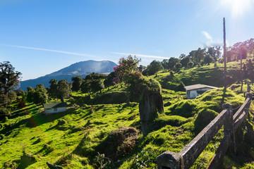Zelfklevend Fotobehang Grijze traf. Urban landscape in the volcano