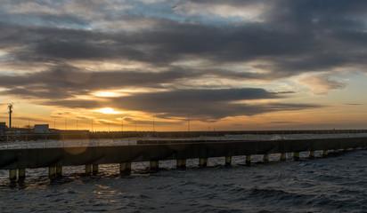 Sonnenuntergang am Ostsee Küste