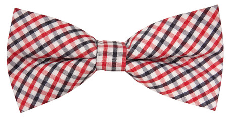 Lovely plaid bow tie isolated on white background