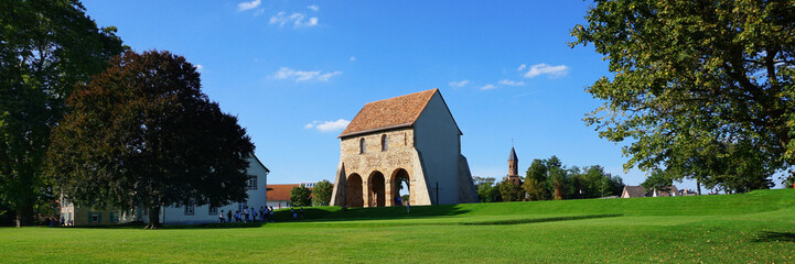 Ruins of the Imperial Abbey of Lorsch, called Reichsabtei Lorsch in Germany