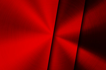 Fototapete - Red Technology Background with Brushed Metal Texture