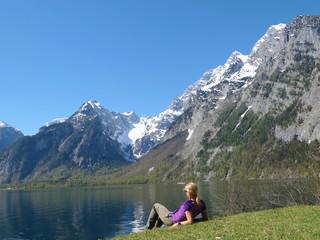Frau am Königssee - Berchtesgadener Alpen
