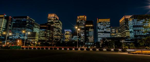 Poster Tokyo 東京駅周辺の夜景 丸の内 日比谷 ~ Night View of Tokyo Station Hibiya Marunouchi ~