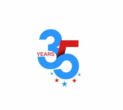 35th Years Anniversary Celebration Design.