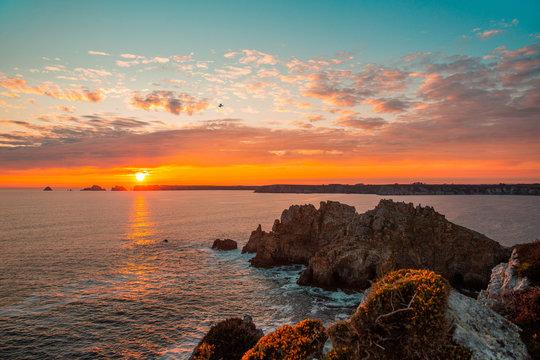 Coucher de soleil Presqu'île de Crozon