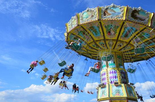 Carousel in the park of Kassel