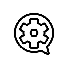 Set up the vector icon. Thin line sign. Isolated contour symbol illustration