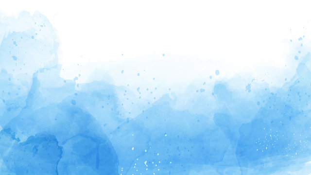 Abstract of blue watercolor background