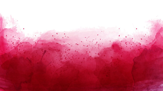Abstract of cherry red watercolor background