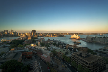 Fotomurales - Aerial view of Sydney with Harbour Bridge, Australia