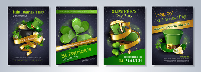 Patrick's Day party flyer Wall mural