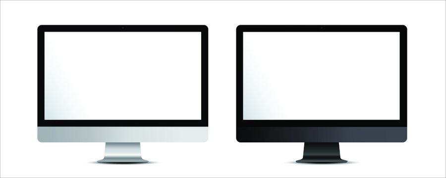 Desktop Computer monitor screen mockup