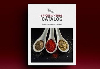 Spices Catalog Layout