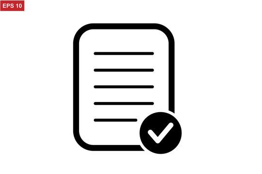 Pictograph of checklist icon vector