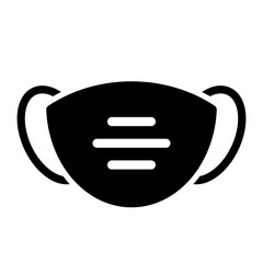 Face mask vector icon