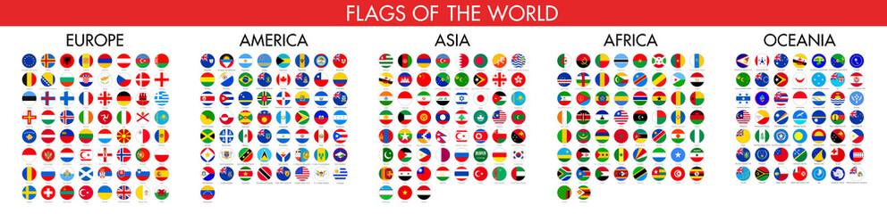 Fototapeta Flag of world. Vector icons obraz