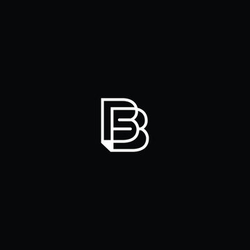 Creative Innovative Initial B logo and BB logo. B Letter Minimal luxury Monogram. Professional initial design. Premium Business typeface. Alphabet symbol and sign.