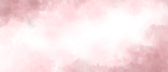 Pink color abstract watercolor background