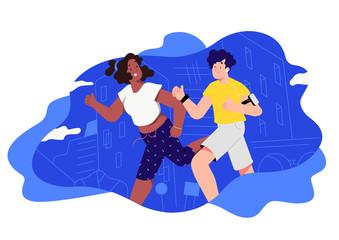 couple runs