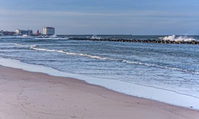 Strand in Darlowko an der Ostsee