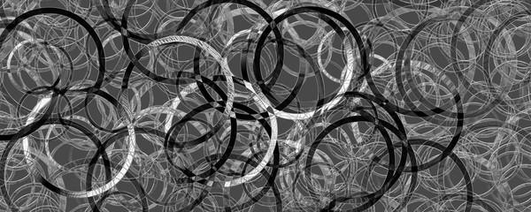 Fantastic abstract 3D glass panorama circle design illustration