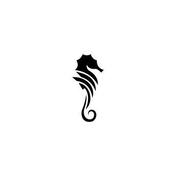 Seahorse icon and symbol vector illustration.
