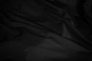 Black curtain background and texture