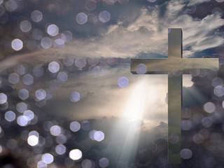 Light of Christ. Sunset or sunrise