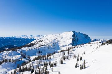 Tauplitz Alm panorama of the skiing resort in Steiermark, Austria