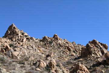 a tall spikey mountain ridge close-up