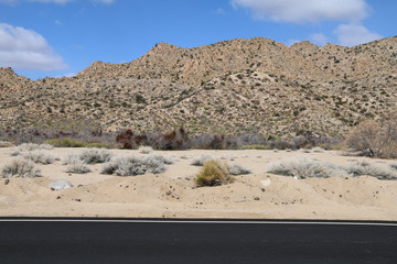 the rocky hill top in the desert wilderness