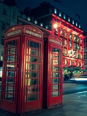 Fototapeten London london red