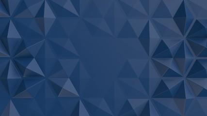 Fotobehang - polygonal tiles dark blue abstract 3d background