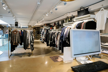 Clothing for sale in boutique clothes store