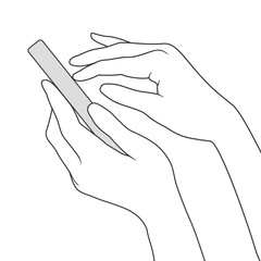Finger touch smartphone screen