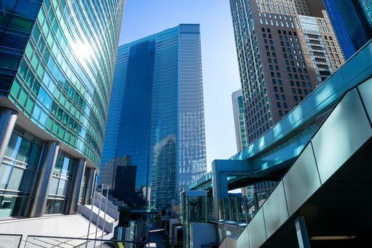 東京 汐留 高層ビル群の風景
