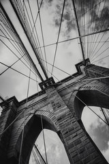 Zelfklevend Fotobehang Brooklyn Bridge Puente brooklyn new york