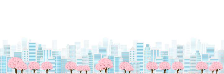 桜 春 ビル 背景