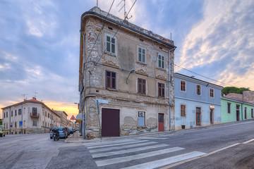 Fototapete - street scene in Pula, Croatia.