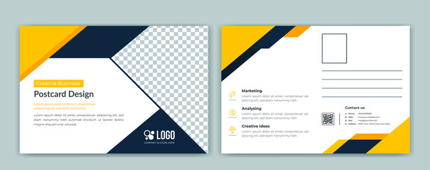 Corporate postcard template Fototapete