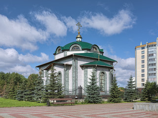 Chapel of St. Nicholas in Yekaterinburg, Russia. The chapel belongs to the Old Believers of Pomorian Old-Orthodox Church.