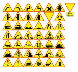 Fototapeta Znaki ostrzegawcze obraz