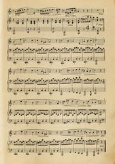 Old yellowed music score without lyrics