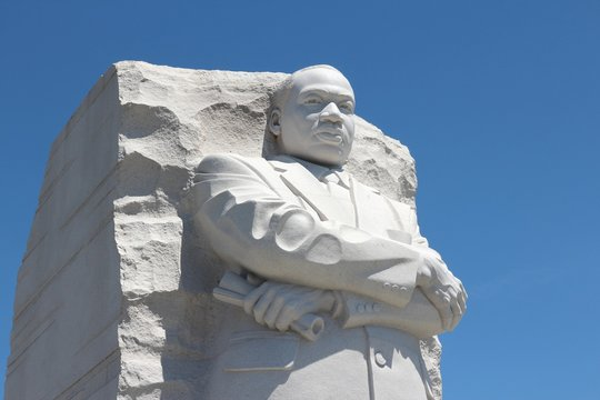 WASHINGTON DC, USA - JUNE 15, 2013: Martin Luther King memorial in Washington. 18.9 million tourists visited capital of the United States in 2012.
