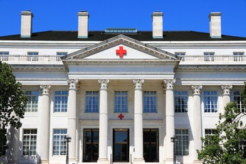 WASHINGTON, USA - JUNE 15, 2013: American Red Cross National Headquarters in Washington. It was declared a National Historic Landmark in 1965.