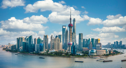 Wall Mural - Panorama of the skyline of Shanghai urban